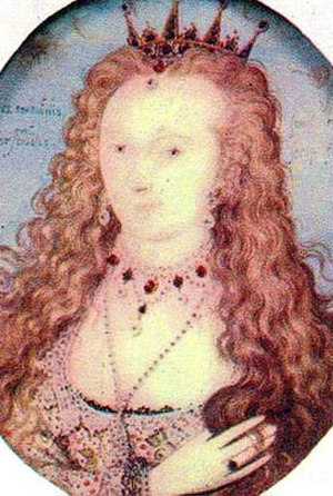 Elizabeth Stanley, Countess of Huntingdon - Miniature portrait of Lady Elizabeth Stanley by Nicholas Hilliard, c. 1601–1610