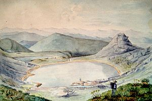 Siecha Lakes - Painting of Lake Siecha, 1855