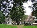 Landgoed Laag Soeren voormalig BETHESDA, achterzijde lounge en terras met 13 stammige linde.jpg