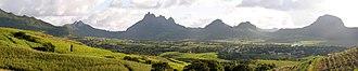 Geography of Mauritius - Image: Landscape near Les Mariannes, Mauritius, 2007 09 09