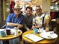 Lars Jacob, Emil Eikner & former CabarEng member 2011.jpg