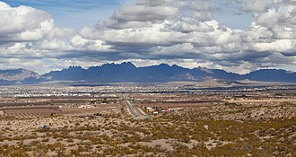 Interstate 10 in New Mexico - Interstate 10, west of Las Cruces, New Mexico.