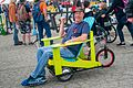 Lawn-chair vehicle at Maker Faire, San Mateo 2016.jpg