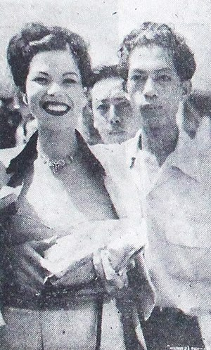Laya Raki - Raki (left) during a 1954 visit to Indonesia