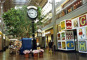 The Mall in Columbia - The Mall in Columbia, interior view, original section, c. 1979