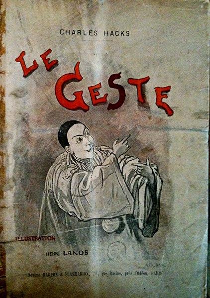 Page de titre de l'ouvrage de Charles Hacks, Le Geste, Paris, Flammarion, 1892.