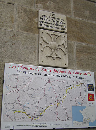 Via Podiensis - The beginning of the Via Podiensis in Le Puy