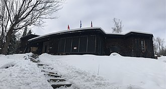 Le Studio - Outside view of Le Studio on Dec.1st, 2018. The recording area still standing after the 2017 fire that destroyed the residential area