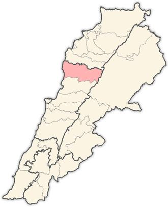 Jbeil District - Image: Lebanon districts Jbeil