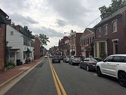 N. King Street in the historic district of Leesburg