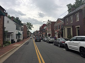 Leesburg, Virginia - N. King Street in the historic district of Leesburg