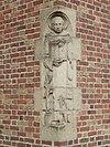 leeuwarden - sint-dominicuskerk - sculptuur van de h. dominicus