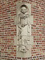 Leeuwarden - Sint-Dominicuskerk - Sculptuur van de H. Dominicus.jpg