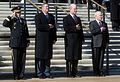 Left to right, George Casey, Michael Donley, Pete Geren, and Robert M. Gates, render honors, Arlington National Cemetery, Nov. 11, 2008.jpg