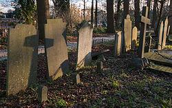 Cemetery De Groenesteeglate December, just before sunset