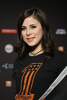 Lena Meyer-Landrut at PC after 2010 Eurovision.jpg