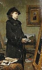 Portret młodej kobiety w pracowni malarza