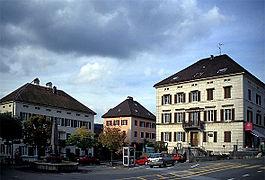 Centro da vila de Les Brenets