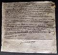 Lettera di margherita bandini a francesco dantini da firenze a preato, 12-09-1402.JPG