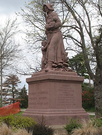 Lexington, Missouri - Madonna of the Trail monument on the edge of downtown Lexington, which was dedicated by Harry S. Truman in 1928.