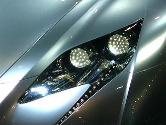 Lexus LF - Lexus LF concept series headlight.