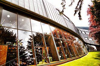 Faculty of Education, University of Cambridge - Library in spring, Faculty of Education, University of Cambridge