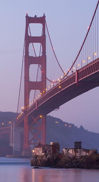 Lime Point Light - Lime Point Light below the Golden Bridge