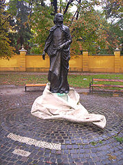 A statue of the young Liszt