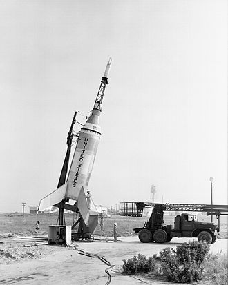 Little Joe (rocket) - Little Joe 1 launch vehicle with Mercury capsule, August 1959