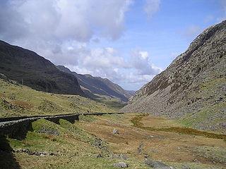 Llanberis Pass road