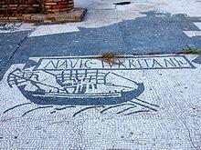 Mosaico concernente i Navuculari Turritani ad Ostia antica.