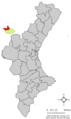 Localització de Castellfabib respecte del País Valencià.png