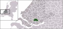 Location of Mijnsheerenland