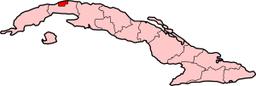 Havannas beliggenhed på Kuba