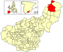 Location of Huéscar