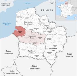 Location within the region Hauts-de-France