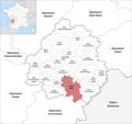 Locator map of Kanton Lalinde 2019.png