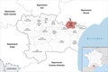 Locator map of Kanton Le Sud-Minervois 2019.png