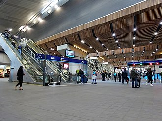 London Bridge station - Main station concourse in January 2018