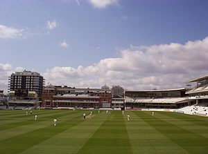 2005 English cricket season - Heath Streak of Warwickshire about to bowl to Cook on 10 April.