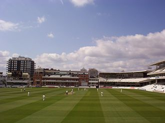 2005 English cricket season - Heath Streak of Warwickshire about to bowl to Cook on 10 April.