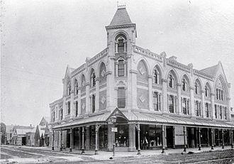 Isaac Luck - Luck's Building, designed by Benjamin Mountfort, in circa 1912