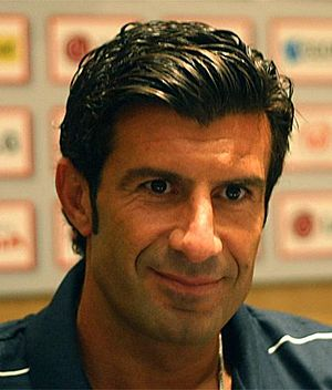 Luís Figo - Luís Figo in 2009. He spent four seasons at Inter from 2005 to 2009.