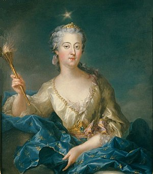Louisa Ulrika of Prussia - Louisa Ulrika of Prussia as the goddess Aurora by Francois-Adrien Latinville (1747).