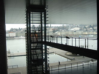 Lucerne Culture and Congress Centre - View from the centre towards the city