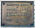 Mária Markovics & Árpád Dékáni plaque Kiskunhalas.jpg