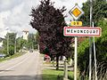 Méhoncourt (M-et-M) city limit sign.jpg