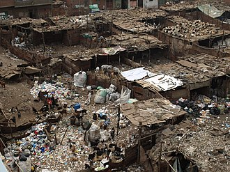 Shanty town - Shanty towns sometimes have an active informal economy, such as garbage sorting, pottery making, textiles, and leather works. This allows the poor to earn an income. The above shanty town image is from Ezbet Al Nakhl, in Cairo, Egypt, where garbage is sorted manually. Residential area is visible at the top of the image.