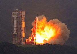 The fifth M-V launches with the ASTRO-EII spacecraft.