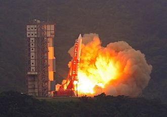 M-V - The fifth M-V launches with the ASTRO-EII spacecraft.